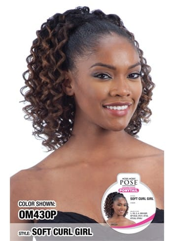 Model Model Pose Drawstring Ponytail - Soft Curl Girl - Beauty Empire
