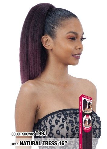 Model Model Drawstring Ponytail Natural Tress 16""
