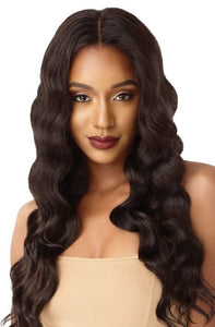 Outre &Play Human Hair Blend 360 Lace Front Wig - Natural Deep Wave