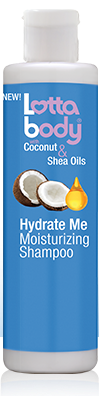 Lotta Body With Coconut & Shea Oils Hydrate Me Moisturizing Shampoo - 10.1oz
