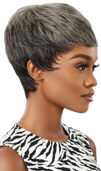 Outre Fab & Fly Gray Glamour 100% Unprocessed Human Hair Wig - HH Eden