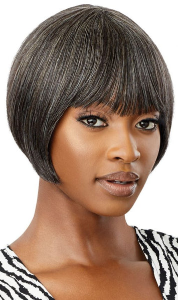 Outre Fab & Fly Gray Glamour 100% Unprocessed Human Hair Wig - HH Harriet