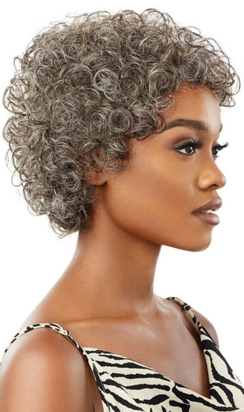 Outre Fab & Fly Gray Glamour 100% Unprocessed Human Hair Wig - HH Veronica