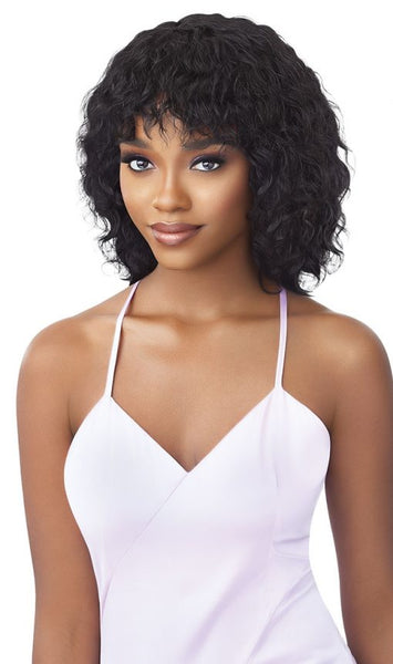 Outre Mytresses Purple Label 100% Unprocessed Human Hair Wig - Wet & Wavy Natural Curly Bob
