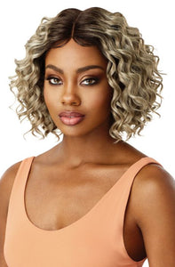 Outre Synthetic Swiss 5 Inch I-Part Lace Front Wig - Allegra