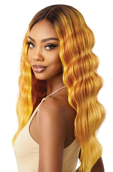 Outre Color Bomb Synthetic Lace Front Wig - Tawny