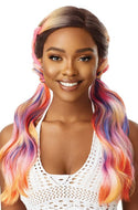Outre Color Bomb Synthetic Lace Front Wig - Fantasia