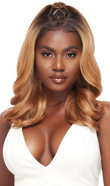 Outre Perfect Hairline 13X4 Hand-Tied Faux Scalp HD Synthetic Lace Front Wig - Ella