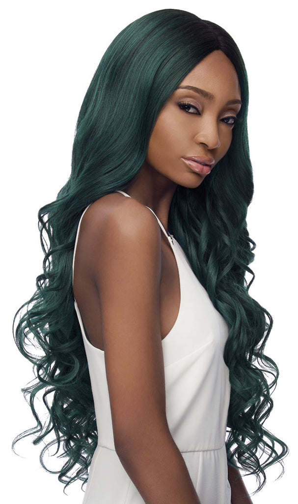 Outre Synthetic Swiss I-Part Lace Front Wig - Serena 32 Inches