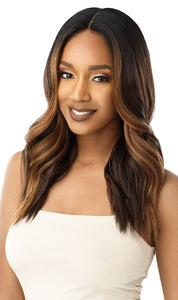 Outre Synthetic Swiss 5 Inch I-Part Lace Front Wig - Shataya