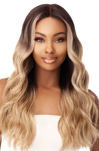 Outre Synthetic Swiss 5 Inch I-Part Lace Front Wig - Stevie