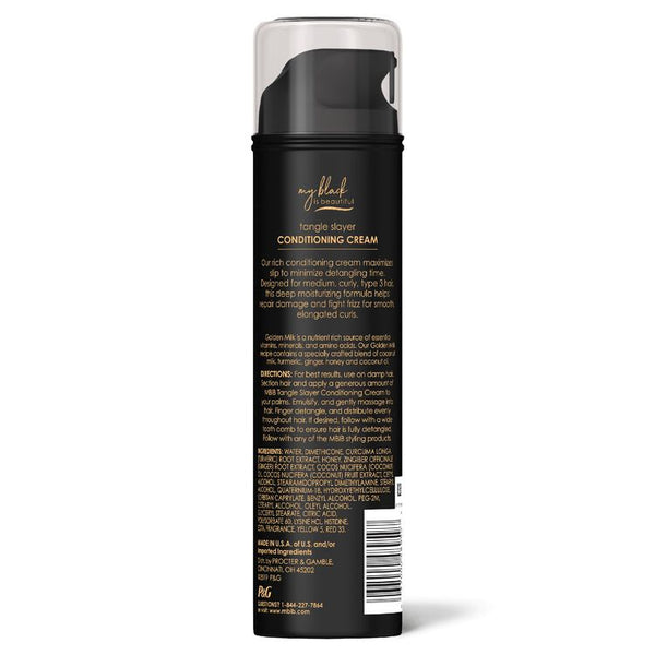 My Black Is Beautiful Tangle Slayer Conditioning Cream Type 3 Curly Hair - 6.3oz