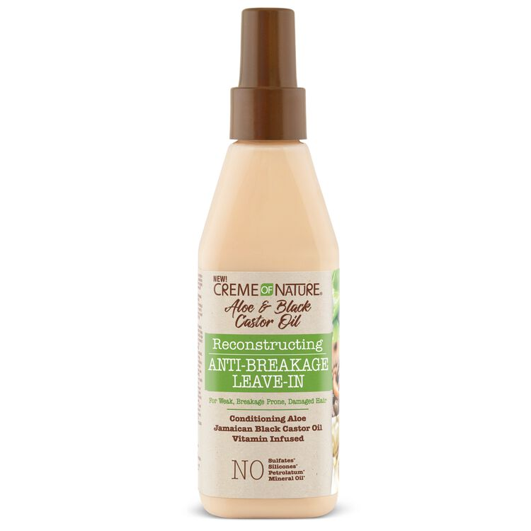 Creme Of Nature Aloe & Black Castor Oil Healthy & Long Fortifying Reconstructing Anti-Breakage Leave-In - 8oz