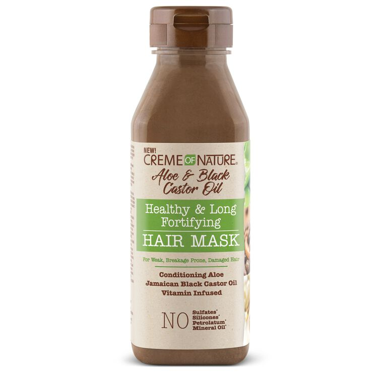 Creme Of Nature Aloe & Black Castor Oil healthy & Long Fortifying Hair Mask - 12oz