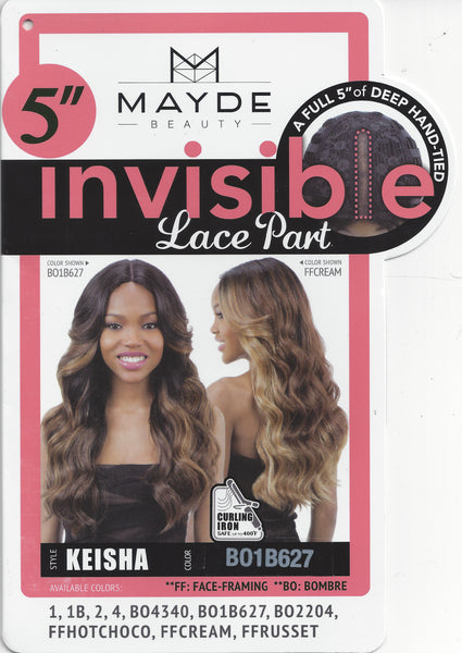 Mayde Beauty 5 Inch Invisible Lace Part Wig - Keisha