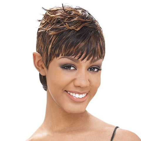 Milky Way Short Cut Human Hair Weaving SG 27 Pieces - Beauty EmpireShake N Go - 1