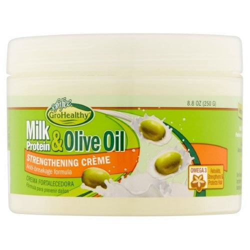 Sofn'Free GroHealthy Milk Protein & Olive Oil Strengthening Creme (8.8 Oz) - Beauty Empire