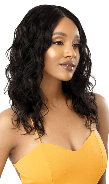 Outre The Daily Wig 100% Unprocessed Human Hair Lace Part Wig - Curly 20 Inches