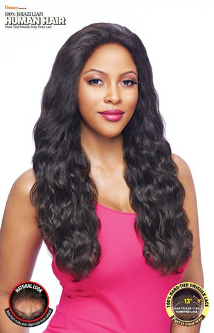 Vanessa Honey C Series 13X5 100% Brazilian Human Hair Hand-Tied Swissilk Deep Front Lace Front Wig - TH35NC Yura