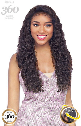 Vanessa 100% Brazilian Human Hair 360 Hand-Tied Swissilk Lace Wig - TH360 SPA 24-26