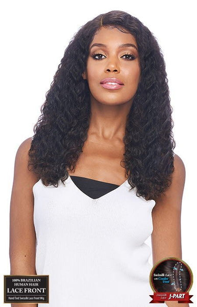 Vanessa 100% Unprocessed Brazilian Human Hair Hand-Tied Swissilk J-Part Lace Front Wig - TJH Cambria