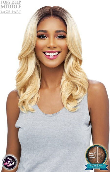 Vanessa Tops Deep Middle 5 Inch Lace Part Synthetic Lace Front Wig - Tops DM Jaya