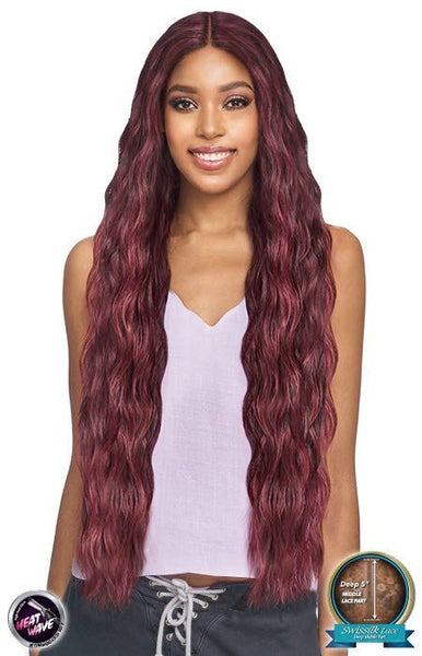 Vanessa Tops Deep Middle 5 Inch Lace Part Synthetic Lace Front Wig - Tops DM Shani 38