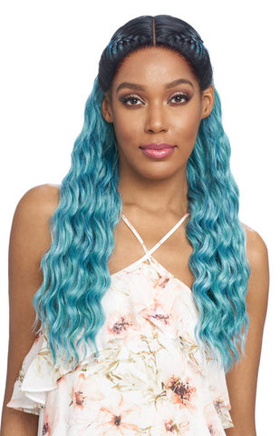 Vanessa Tops Slay'd Braid Synthetic Lace Front Wig - TSB Helix