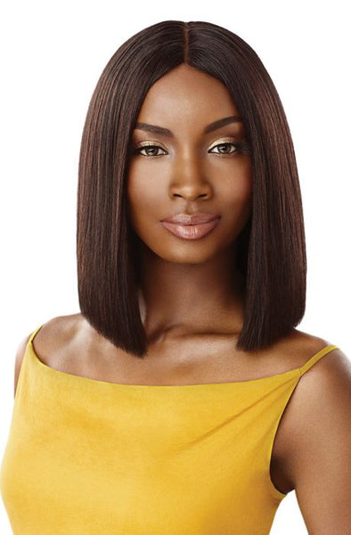 Outre The Daily Wig 100% Unprocessed Human Hair Lace Part Wig - Straight Blunt Cut Bob 12 Inches - Beauty Empire