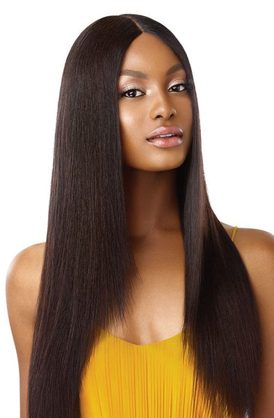 Outre The Daily Wig 100% Unprocessed Human Hair Lace Part Wig - Straight V Cut 26 Inches