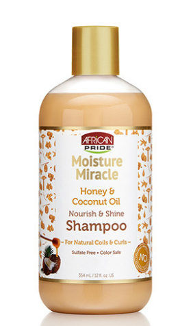 African Pride Moisture Miracle Honey & Coconut Oil Nourish & Shine Shampoo - 12oz - Beauty Empire