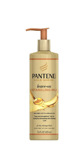 Pantene Gold Series Leave-On Detangling Milk - 7.6oz