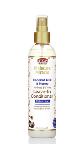 African Pride Moisture Miracle Coconut Milk & Honey Hydrate & Shine Leave-In Conditioner - 8oz - Beauty Empire