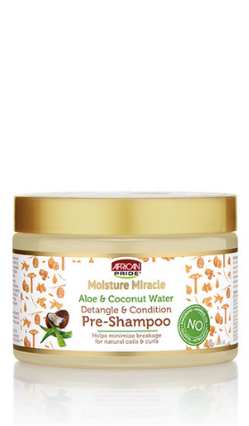African Pride Moisture Miracle Aloe & Coconut Water Detangle & Condition Pre-Shampoo - 12oz - Beauty Empire