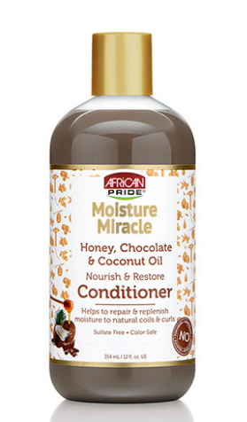 African Pride Moisture Miracle Honey, Chocolate & Coconut Oil Nourish & Restore Conditioner - 12oz - Beauty Empire
