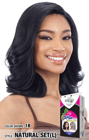 Freetress Equal 5 Inch Lace Part Wig - Natural Set(L) Natural Me