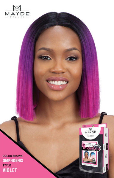 Mayde Beauty 5 Inch Invisible Lace Part Wig - Violet - Beauty Empire