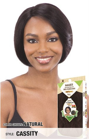 Shake N Go Naked 100% Brazilian Human Hair R-Part Wig - Cassity