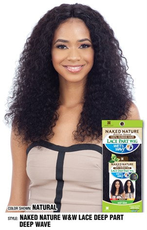 Shake N Go Naked Nature Wet & Wavy Deep Lace Part Wig - Deep Wave