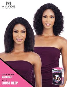 Mayde Beauty Wet & Wavy 100% Human Hair Invisible Lace Part Wig - Loose Deep