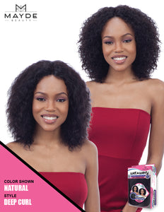 Mayde Beauty Wet & Wavy 100% Human Hair Invisible Lace Part Wig - Deep Curl