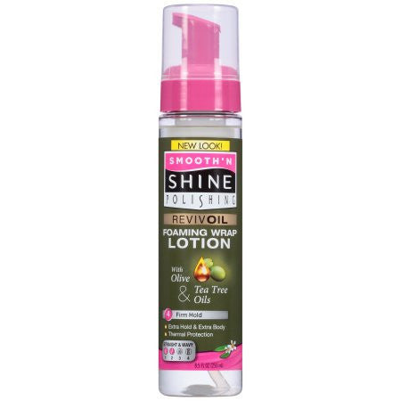 Smooth'N Shine Revivoil Foaming Wrap Lotion 4 Firm Hold (8.5 oz) - Beauty Empire