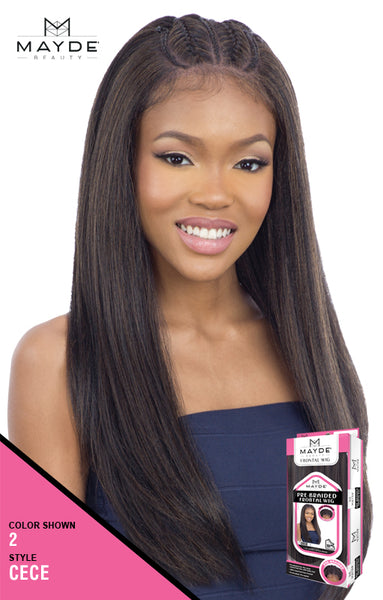 Mayde Beauty Pre-Braided Synthetic Lace Frontal Wig - Cece - Beauty Empire