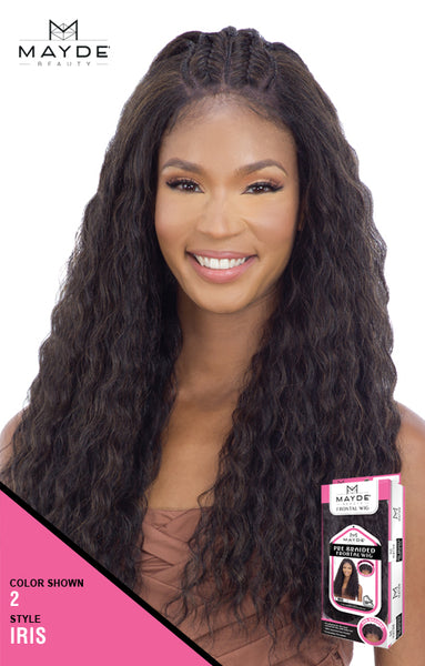 Mayde Beauty Pre-Braided Synthetic Lace Frontal Wig - Iris - Beauty Empire
