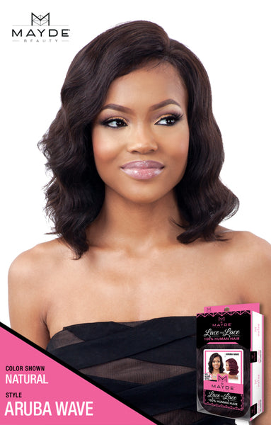 Mayde Beauty Lace & Lace 100% Human Hair Lace Front Wig - Aruba Wave - Beauty Empire