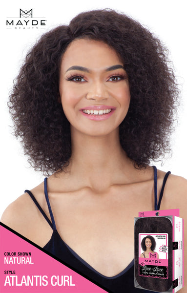 Mayde Beauty Lace & Lace 100% Human Hair 5 Inch Lace Front Wig - Atlantis Curl