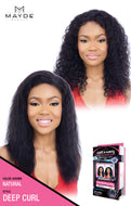 Mayde Beauty Wet & Wavy 100% Human Hair Bleached Knot Frontal Lace Wig - Deep Curl - Beauty Empire