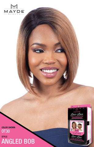 4ef9d40031f Mayde Beauty Lace & Lace 100% Human Hair Lace Front Wig - Angled Bob