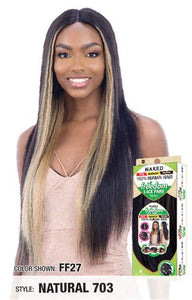 Shake N Go Naked 100% Human Hair 5 Inch Freedom Lace Part Wig - 703