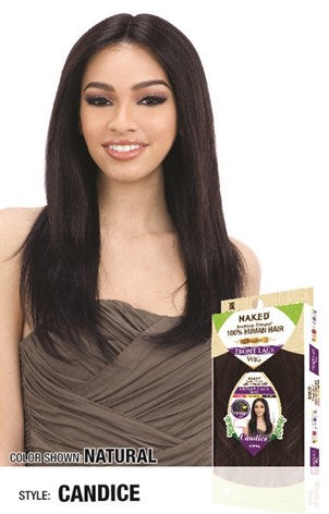 Shake N Go Naked 100% Human Hair 5 Inch C-Part Lace Front Wig - Candice